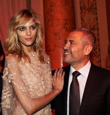 Elie Saab and Top-Model Anja Rubik