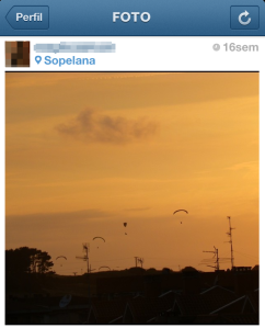Example of a photo in Instagram with the Valencia filter.